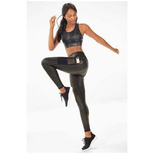 Fabletics Pants - Fabletics 2 Piece Outfit Black Glam Snake Print
